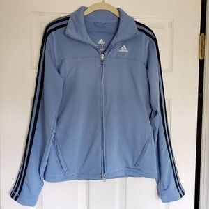Adidas Light Blue Zipper Track Jacket - Size Small